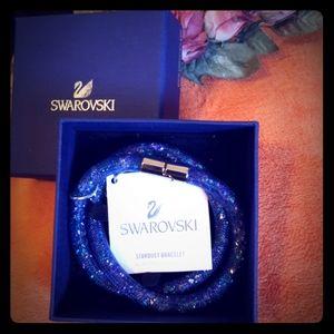 NWT Swarovski Stardust Wrap Bracelet - Blue